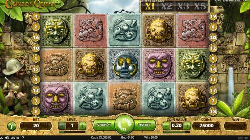 Gonzo's Quest skjermbilde