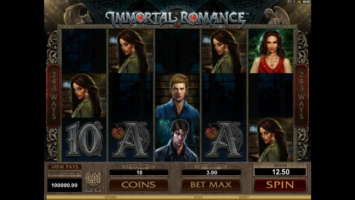 Immortal Romance spilleautomat skjermbilde