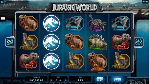 Jurassic World spilleautomat skjermbilde