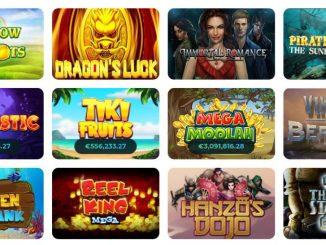 online casino lobby med spilleautomater