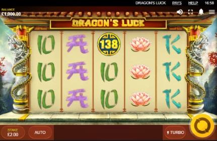 Dragon's Luck spilleautomat skjermbilde