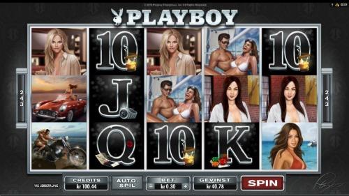 Playboy spilleautomat skjermbilde