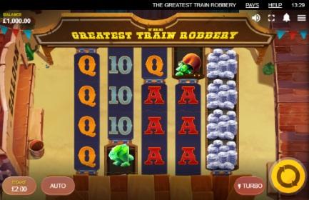 The greatest train robbery spilleautomat skjermbilde