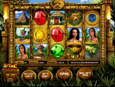 Aztec Treasures spilleautomat skjermbilde