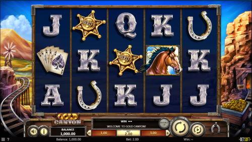 Gold Canyon spilleautomat skjermbilde