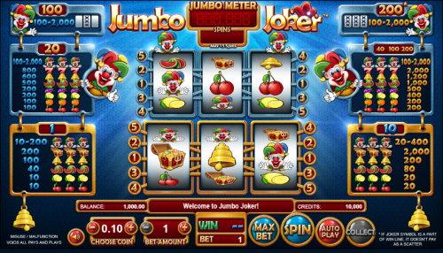 Jumbo Joker spilleautomat skjermbilde