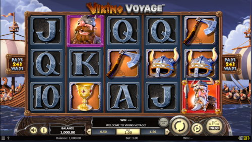 Viking Voyage spilleautomat skjermbilde