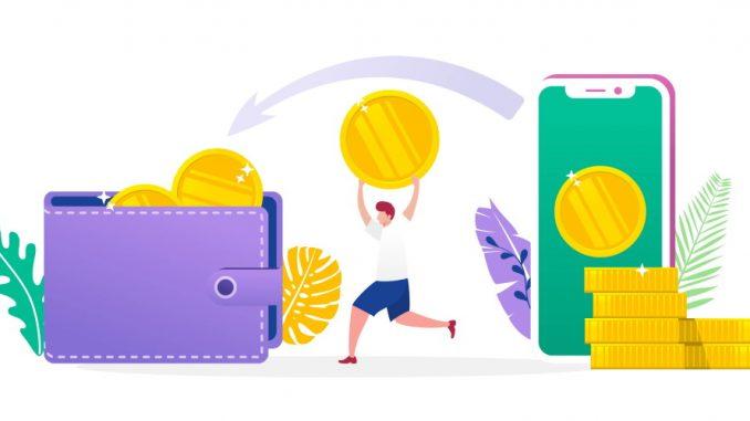 lommebok og telefon