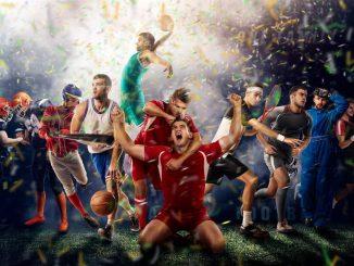 Mennesker som driver ulike idretter