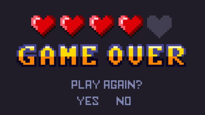 Arkadespill - Game over