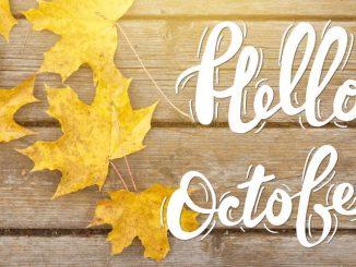«Hello October» høstløv i solskinn