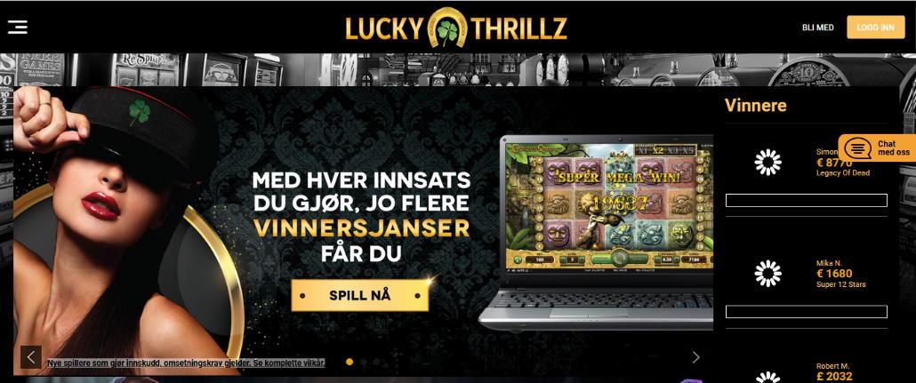 Lucky Thrillz Casino Nettsted