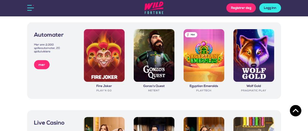 Wild Fortune Casino Nettsted